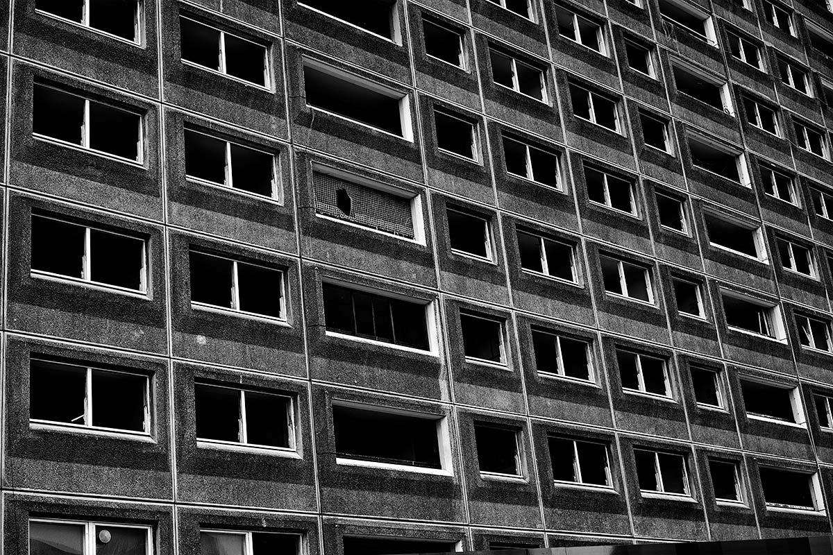 Derelict tenement block