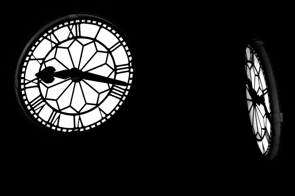 clock at night