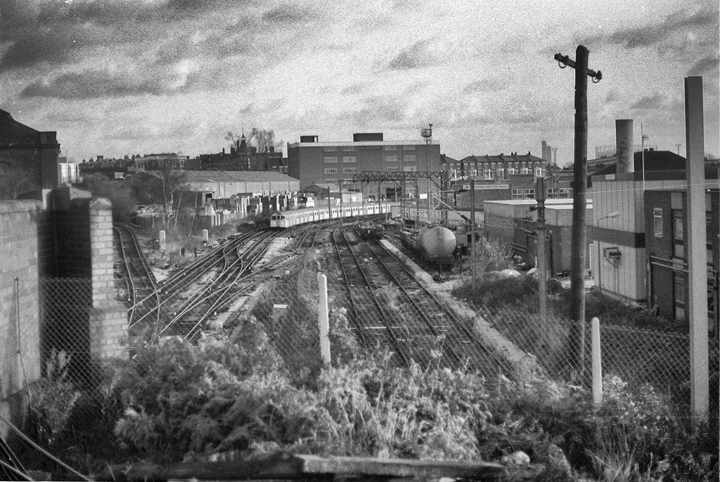 Train, East London 1990s