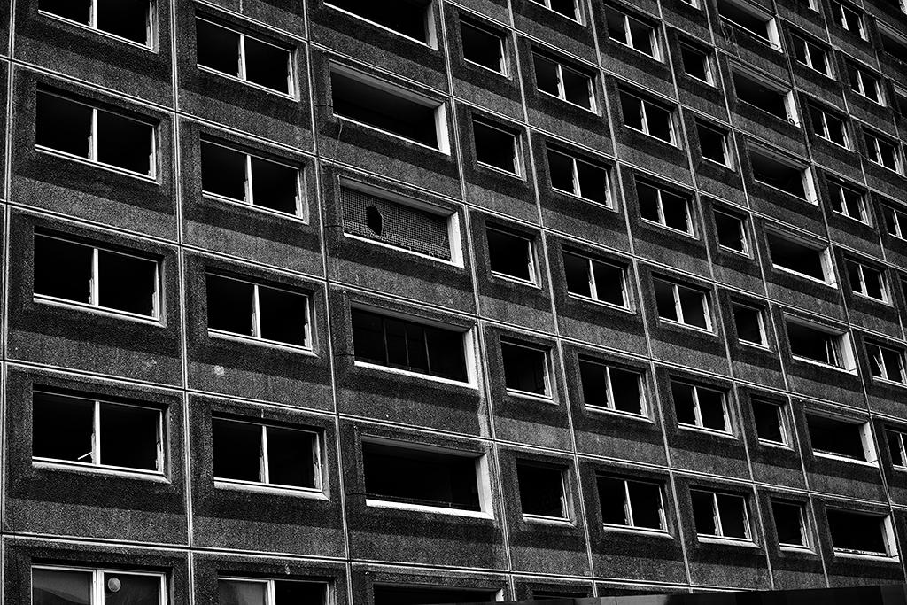 Derelict high-rise building