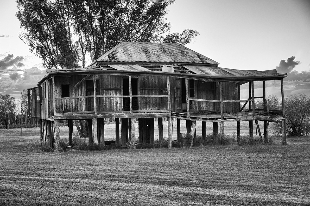 Old derelict country house