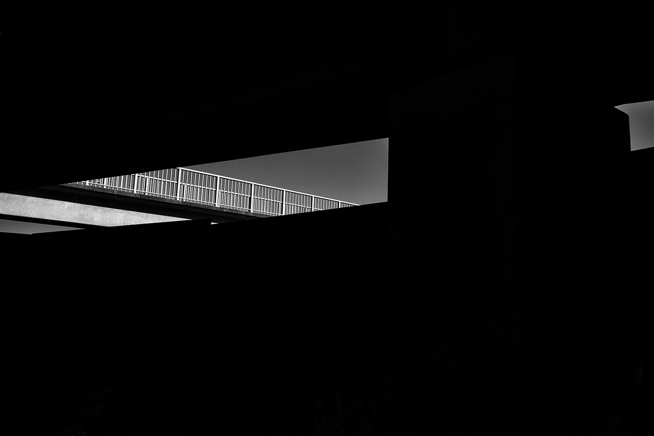 Abstract urban black and white photo